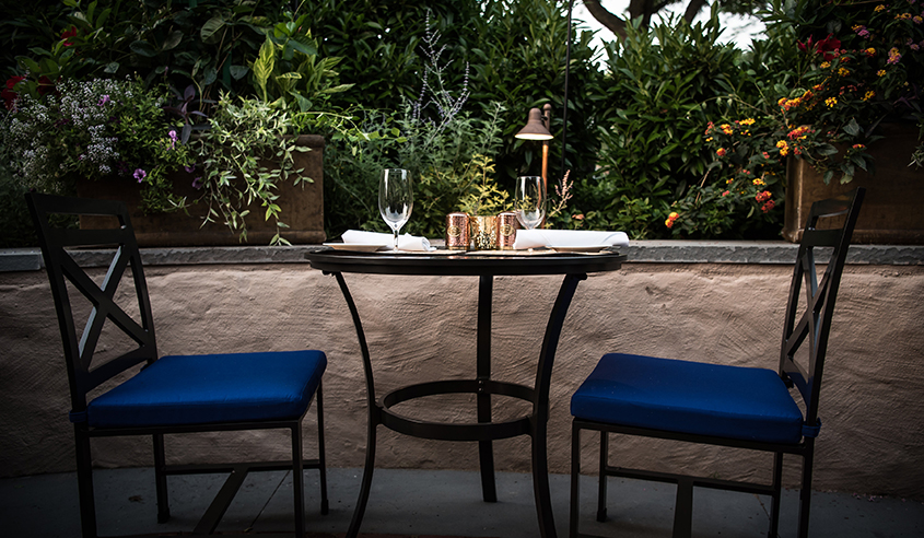 Intimate Dining on the Garden Patio